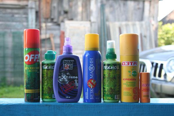 средства против комаров, мух, слепней