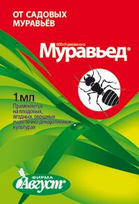 Средство против черных садовых муравьев МУРАВЬЕД