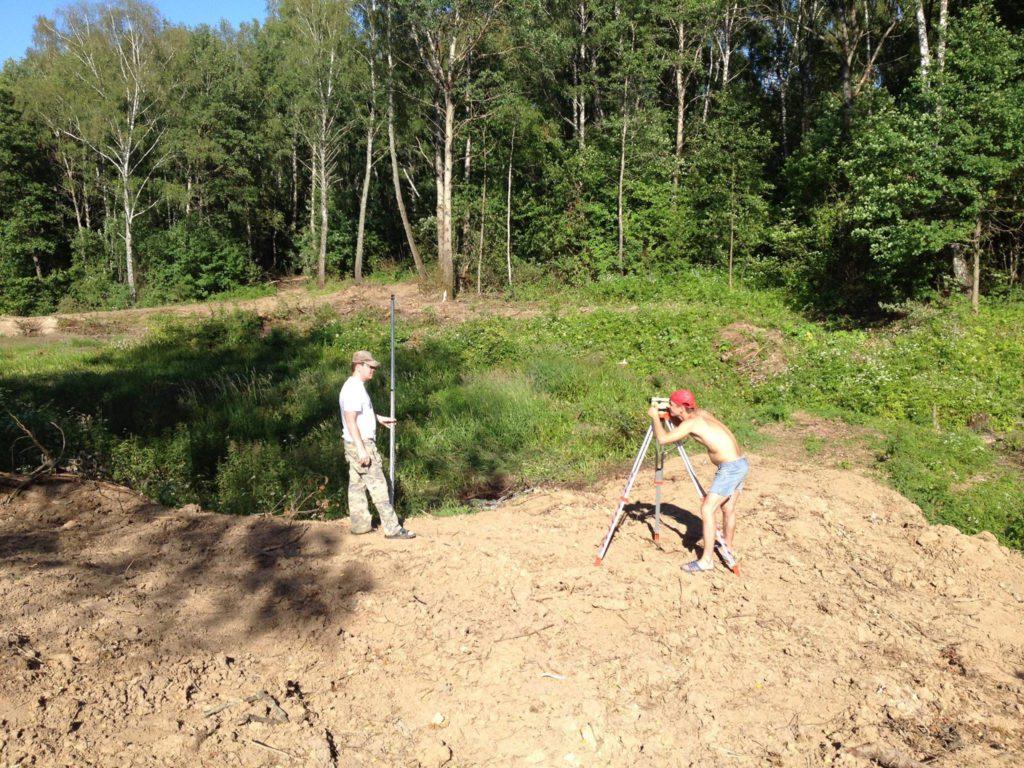 планирование строительства пруда